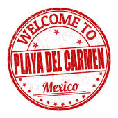 Welcome to Playa del Carmen stamp — Stock Vector