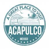 Acapulco stamp — Stock Vector