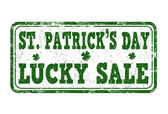 St. Patrick's Day lucky sale stamp — Stock Vector