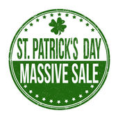 St. Patrick's Day massive sale stamp — Stock Vector