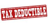 Tax deductible stamp — Stock Vector
