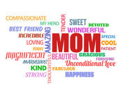 Mothers Day word cloud — Stock Vector