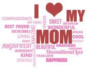 Mothers Day word cloud — Stok Vektör