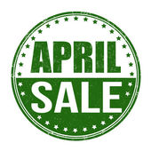 April sale stamp — Stock Vector