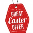Great Easter offer label or price tag — Stock Vector #68195459