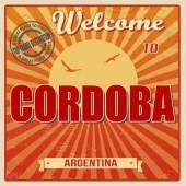 Welcome to Cordoba poster — 图库矢量图片