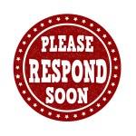 Please Respond Soon stamp — Stock Vector #69498861