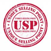 Unique Selling Point  stamp — Stock Vector