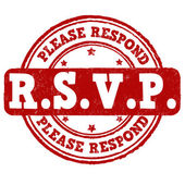 Please Respond stamp — Stock Vector