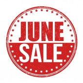 June sale stamp — Wektor stockowy