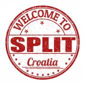 Welcome to Split stamp — Stock Vector