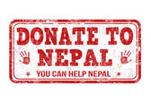 Donate to Nepal stamp — Stock Vector