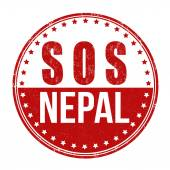 SOS Nepal stamp — Stock Vector