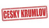 Cesky Krumlov stamp — Stock Vector