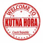 Welcome to Kutna Hora stamp — Wektor stockowy