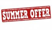 Summer offer stamp — Stock Vector