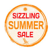 Sizzling summer sale stamp — Stock Vector