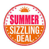 Sizzling summer deal stamp — Stock Vector