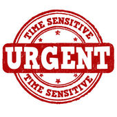 Urgent, time sensitive stamp — Stock Vector