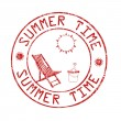 Summer time post office stamp — Stock Vector #72728565