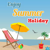 Enjoy Summer Holiday poster — Stock Vector
