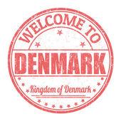 Bienvenue sur timbre du Danemark — Vecteur