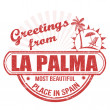 Greetings from La Palma stamp — Stock Vector #73702093