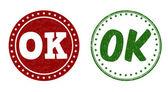 Ok stamps — Wektor stockowy