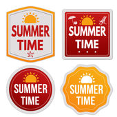 Summer time stickers set — Stock Vector