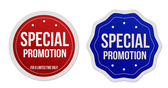 Special promotion stickers set — Stock Vector