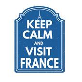 Keep calm and visit  France — Vetor de Stock