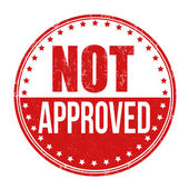 Not approved stamp — Stock Vector