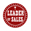 Leader of sales stamp — Stock Vector #76397923