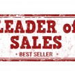 Leader of sales stamp — Stock Vector #76397927