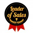 Leader of sales label or seal — Stock Vector #76397933