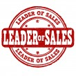 Leader of sales stamp — Stock Vector #76397939