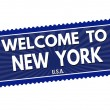 Welcome to New York stamp — Stock Vector #76562087