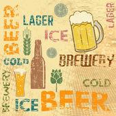 Beer theme retro poster — Stock Vector