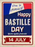 Happy Bastille Day poster — Stock Vector