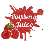 Raspberry juice stamp — Stock Vector