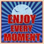 Enjoy every moment retro card — Stock Vector #77147561