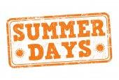 Summer days stamp — Stock Vector