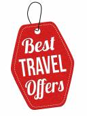 Best travel offers label or price tag — Stock Vector