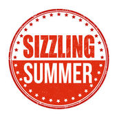 Sizzling summer stamp — Stock Vector