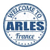 Welcome to Arles stamp — Stock Vector
