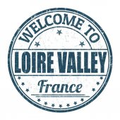 Welcome to Loire Valley stamp — Stock Vector