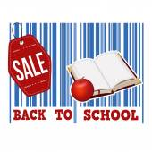 Back to school sale barcode — Stock Vector