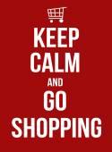 Zachować spokój i zakupy — Wektor stockowy
