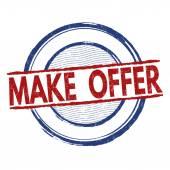 Make offer stamp — Stock Vector
