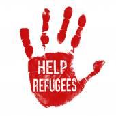 Help Refugees — Stock Vector